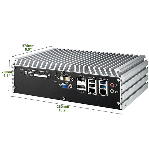 Echo 236F-PoE Industrial Fanless Mini PC with 4 x PoE and 3 x SIM Slots