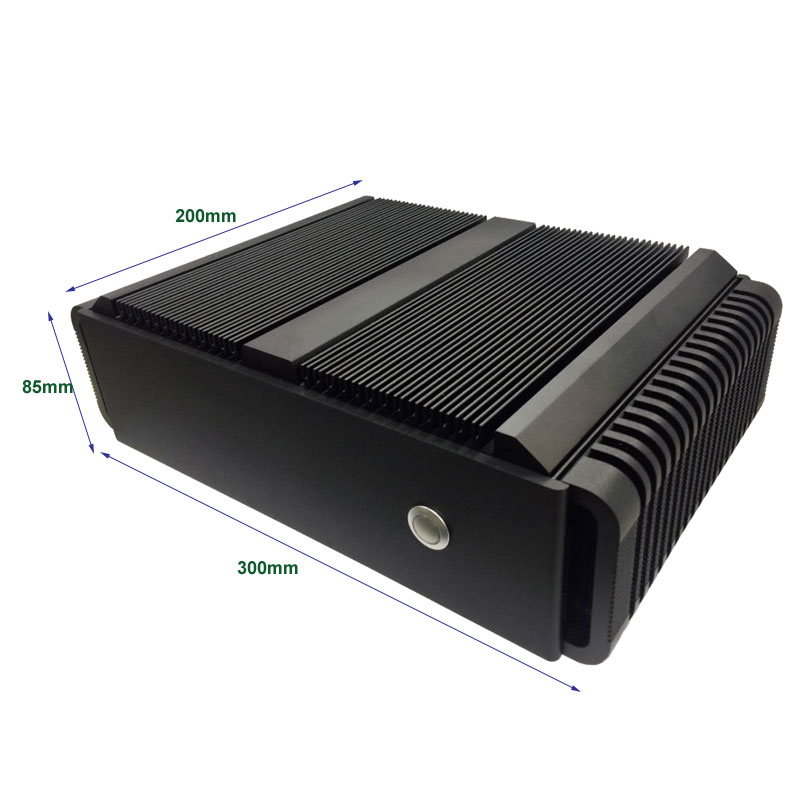 Twister 170E Embedded Fanless Mini PC with i7 Skylake-S and PCI Express 3.0 x16 slot