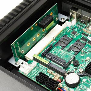 Fanless Mini PC with PCI Express x1 Slot 3G Sim Slot