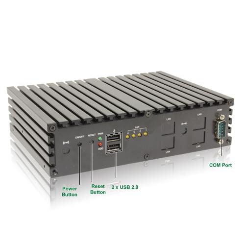 UNO 525G4 4xLAN Port(Gigabit Ethernet) Thin Client Gateway